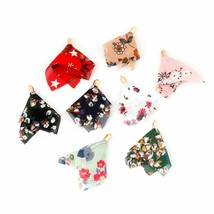 Gold Caps Cloth Flower Pearls Design Tassel For Key Chains Earrings Acce... - $9.49