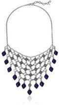 Lucky Brand Lapis Statement Necklace - $735,18 MXN