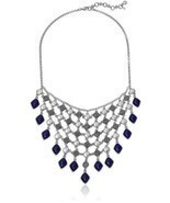 Lucky Brand Lapis Statement Necklace - £29.85 GBP