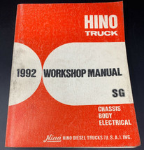Hino Truck 1992 SG Chassis Body Electrical Service Workshop Manual Repai... - $28.45