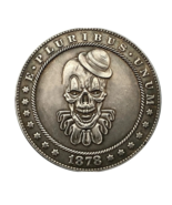 Hobo Nickel Dollar Killer Clown Pennywise Movie Man Villain US Art Caste... - $10.44