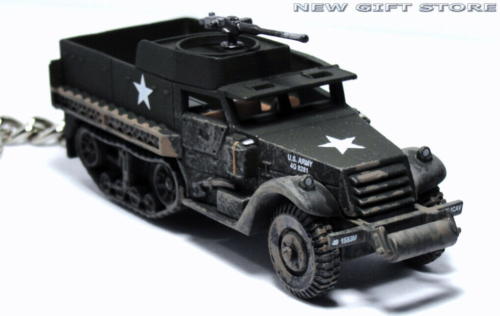 Primary image for HTF KEY CHAIN HALF TRACK M3 ARMORED PERSONNEL CARRIER USMC/ARMY IDF ISRAEL KOREA
