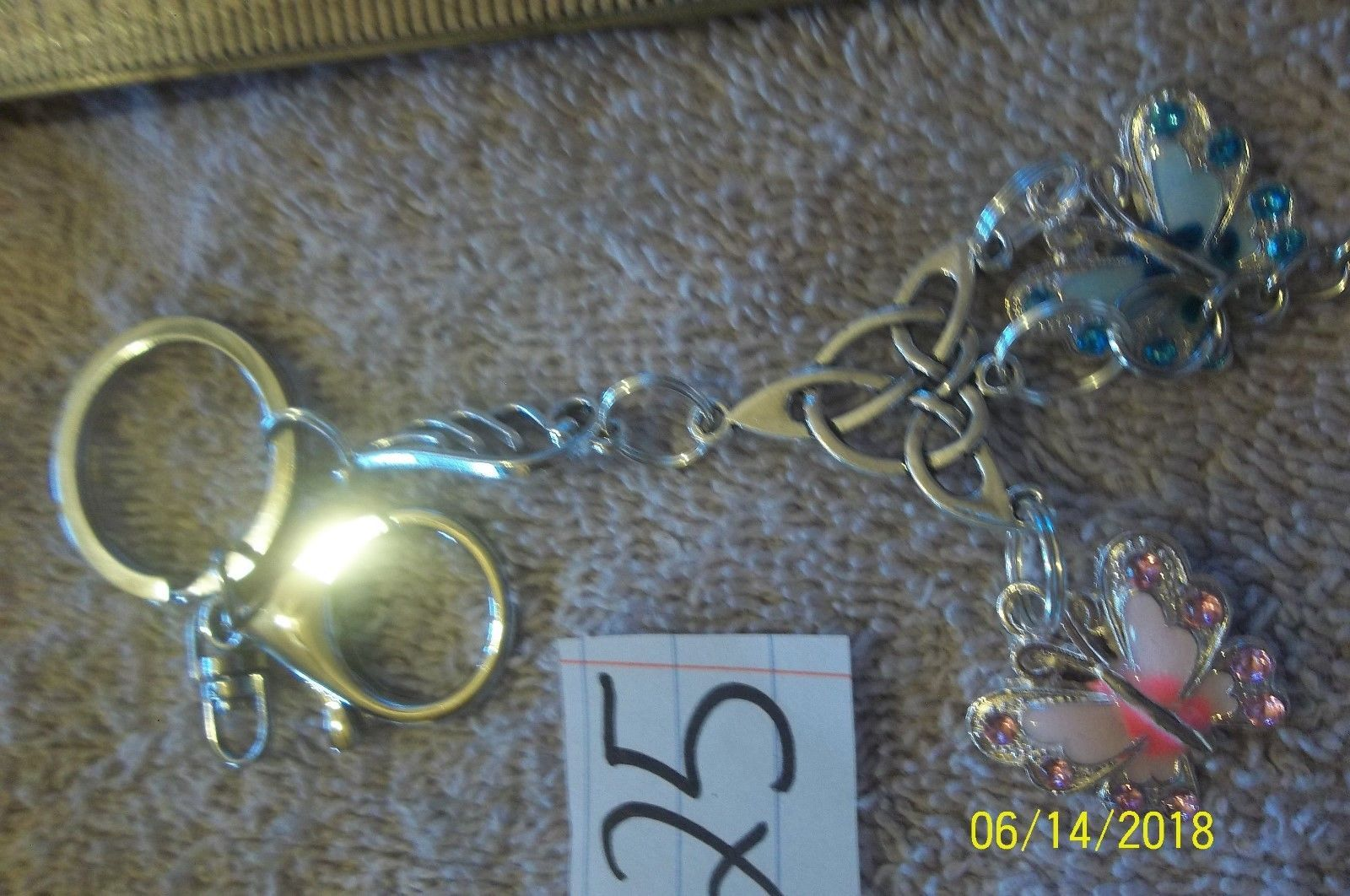 # purse jewelry silver color componant keychain backpack  dangle charm #25 image 4