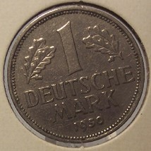1950-G West German 1 Mark Coin EF #0565 - $11.99