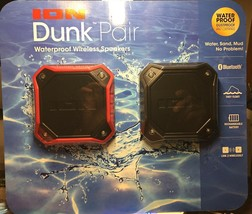ION Dunk IPX7 Waterproof Portable Bluetooth Speaker 2 Pack Black & Red New - $39.99