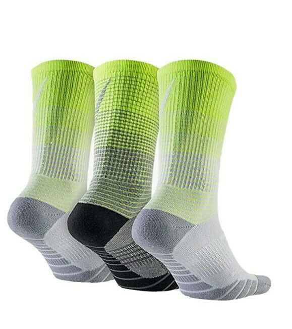 Nike Women/Youth 3 Pair Pack HBR Performance Crew Socks Small SX5550-915 image 2