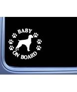 "Baby on Board Brittany Spaniel L497 6"" Sticker decal - $4.99"