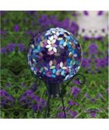 "10"" Gazing Ball Mosaic Glass Garden Globe Statue Yard Lawn Patio Decor B... - $69.97"