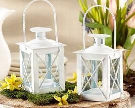 48 White Luminous Mini Lantern Tea Light Holder Wedding Favors Table Decor - $120.43