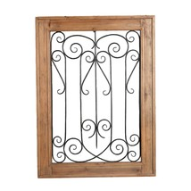 Wood and Metal Scroll Wall decor, Brown and Black - $113.99