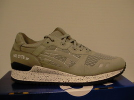 Asics running shoes gel-lyte iii size 10 us men light grey new with box - $94.00