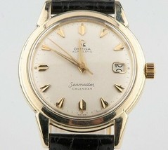 Vintage Omega Ω Men's Seamaster Calendar Automatic 14k Gold Filled Watch w/ Date - $1,781.99