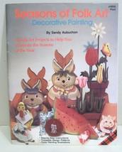 Seasons of Folk Art Pattern Tole Plaid Craft Book Folk Art Primitive Painting - $5.99