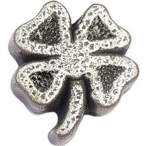 Four Leaf Clover Floating Locket Charm - $2.42