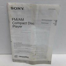 Sony CDX-GT360MP  CDX-GT260MP AM/FM Compact Disc player Owners Manual  - $14.84