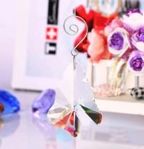 """10Pcs 2""""Clear Hanging Suncatcher Cut Glass Crystal Prism Maple Leaf Drop... - $13.09"""