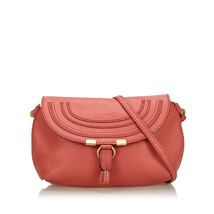 Pre-Loved Chloe Red Others Leather Small Marcie Crossbody Bag Spain - $433.84
