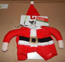 Christmas Dog Costume 3D Santa Small To Extra Small 12 To 19 Lbs 150V - $8.49