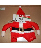 Christmas Dog Costume 3D Santa Small To Extra Small 12 To 19 Lbs 150V - $8.49