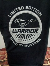 Ford Military Warrior Mustang Black T Shirt Men's Large L Car Auto Nwot - $29.39