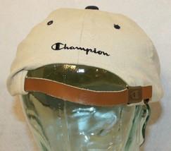 Champion Apparel KANSAS XXL tan navy blue strapback Dad baseball-style cap hat image 2