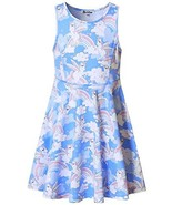 Unicorn Dresses for Girls Sleeveless Summer (3-4Y/ Height: 41in Unicorn Heart) - $12.46