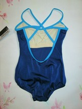 Blue Leotard New Girl's 8-10 - Fits 6-7 Dance Ballet Body Wrappers IC Strappy - $12.99