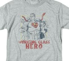 Superman T-shirt Working class hero retro DC comics distressed tee SM1951 image 2