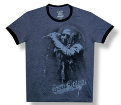 Bob Marley - Soul Rebel - Charcoal Lightweight Ringer T-Shirt - $20.99