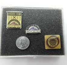 1993 MLB Colorado Rockies Inaugural Season Limited Condition Pin Set image 1