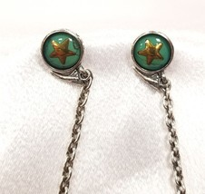 Diesel Dragon Turquoise Star and Heart Women's Sterling Silver Earrings NWT - £30.99 GBP