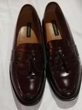 Bostonian 25059 Men's Slip-On Burgundy Leather Tassel Dress Loafers Shoes 11 M - $26.99