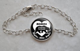 Sterling Silver Bracelet Momma Bear mommabear mother mom mommy Custom Ki... - $50.00