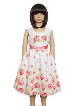 New Girls Summer Party Dress Pink Lilac Orange 5 6 7 8 9 10 Years - $22.90