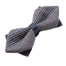 Vintage Bow Tie Party Novelty Neckties Gentlemen Plaid Pattern Men Ties Bow Tie