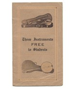 Musical Instruments Arts Crafts Typography American Conservatory of Musi... - $24.99