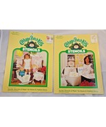 Cabbage Patch Kids Stencils Craft Paint Lot Sealed 26602 & 26603 - $8.95