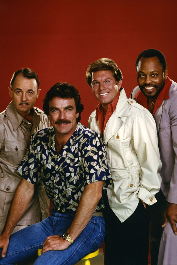 Primary image for Magnum, P.i. Tom Selleck John Hillerman Larry Manetti Roger Mosley 18x24 Poster