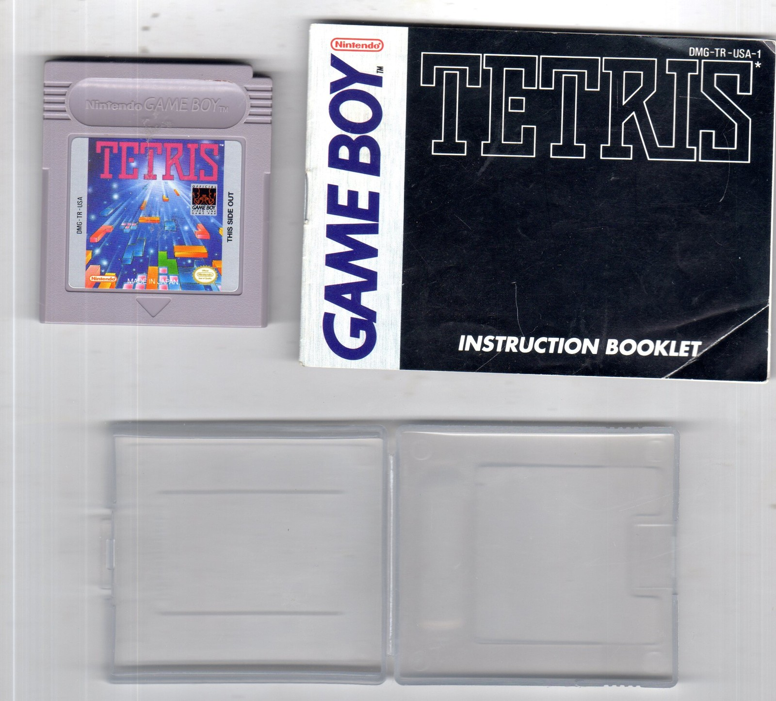 Tetris (Nintendo Game Boy, 1989) Game in Case with Instructions Manual