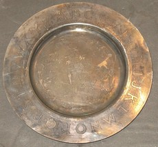 """Vtg William Rogers Silverplate ABCs Alphabet Childs Baby 6 1/8"""" Plate Ta... - $18.81"""