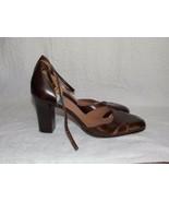Circa Joan David Brown Leather Heels 7.5M For Women Used - $49.49