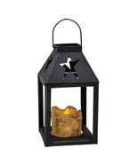 Star Iron Lantern w/ Pillar Candle Holiday Shopping Gifts - $39.99