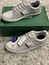 Lacoste Men's Europa Tennis Shoes NIB Light Grey/Red/Navy Men's Size 12 M - $70.00