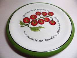 Judy Phipps Dinner Plate TOMATO Red Green Certified International - $12.86