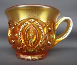 Northwood MEMPHIS Marigold Carnival Glass Punch Cup 5315 - $24.75