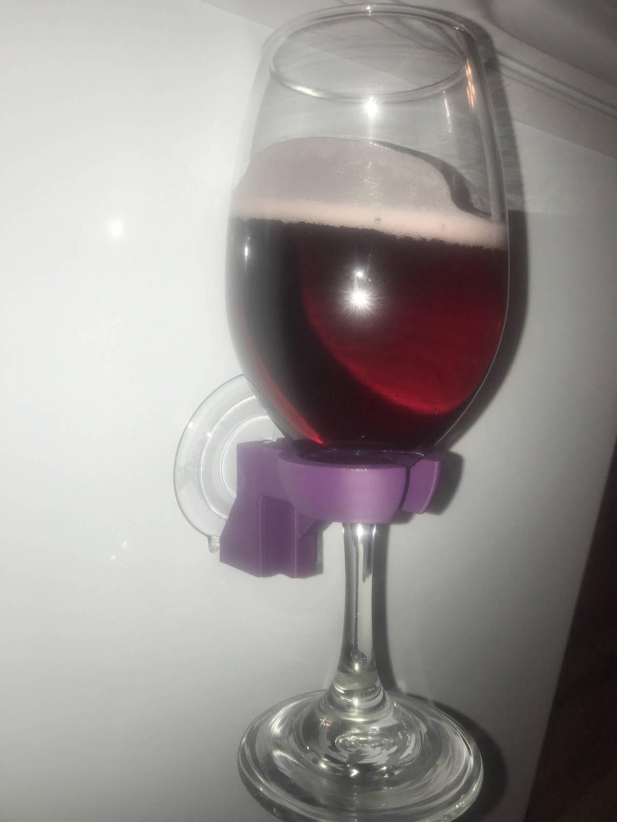 Drink Wine Gl Beverage Holder For Your Shower Portable Bath Hol