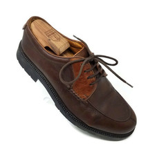 Cole Haan Country Two Tone Brown Leather Lace Up Oxfords Shoes Brazil Mens 9 M - $49.45