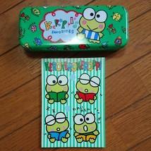 Sanrio  Kero Kero Keroppi Can Pen Case Note Set Cute Rare - $50.99