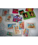 Vintage 80s Barbie Collectables Over 60 Items Cardboard Posters Music Sh... - $21.73
