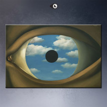 "Rene Magritte ""The False Mirror'"" HD print on canvas large wall picture ... - $29.69"